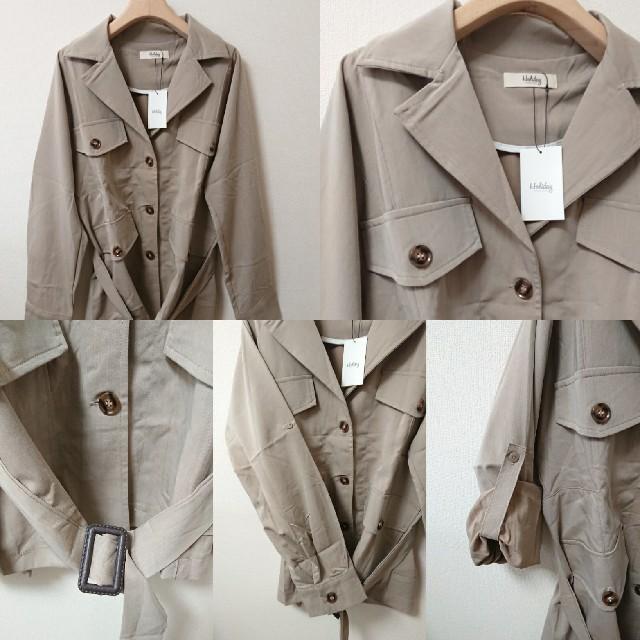 Auntie Rosa(アンティローザ)の新品 アンティローザホリデー ミリタリー サファリ ライト ジャケット シャツ レディースのジャケット/アウター(ミリタリージャケット)の商品写真