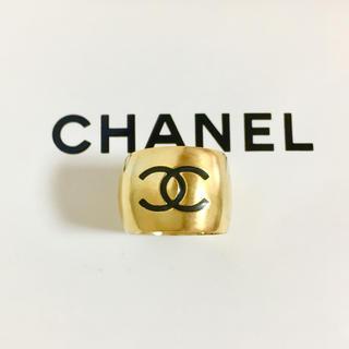 シャネル(CHANEL)の正規品 シャネル 指輪 ゴールド ココマーク ハート 黒 リバーシブル リング(リング(指輪))