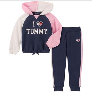 トミーヒルフィガー(TOMMY HILFIGER)のトミーヒルフィガー ベビー キッズ セットアップ 長袖 ロンT パンツ(Tシャツ/カットソー)