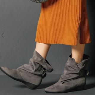 フィットフィット(fitfit)の外反母趾にも優しい【fitfit】ルーズフィットブーツ グレー 23cm 美品(ブーツ)