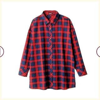 しまむら - 〖新品 タグ付き〗【しまむら】赤チェックシャツ