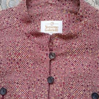Nazareno Gabrielli 織りのジャケット(ノーカラージャケット)