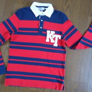 キツネ(KITSUNE)の送料込キツネ KITSUNE胸ドデカKTワッペントリコロールカラー長袖ポロシャツ(ポロシャツ)