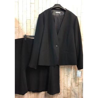 新品☆42号8L♪ブラックフォーマルスーツセット♪オールシーズン♪喪服☆s751(礼服/喪服)