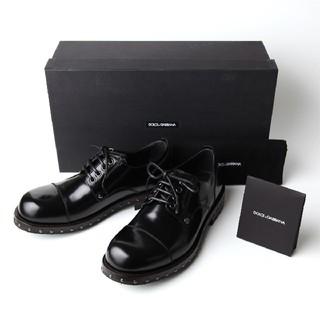 ドルチェアンドガッバーナ(DOLCE&GABBANA)の新品 ドルチェ&ガッバーナ メンズ ダービー シューズ 6 25.5cm 靴 黒(ドレス/ビジネス)