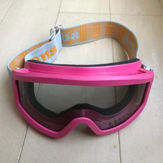 スワンズ(SWANS)のスワンズ ジュニア用スノーゴーグル ピンク(ウエア/装備)