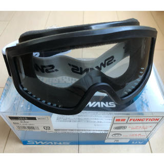 スワンズ(SWANS)のスワンズ ジュニア用スノーゴーグル 黒(ウエア/装備)