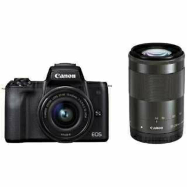 Canon(キヤノン)の【新品未使用】Canon EOS Kiss M ダブルズームキット スマホ/家電/カメラのカメラ(ミラーレス一眼)の商品写真