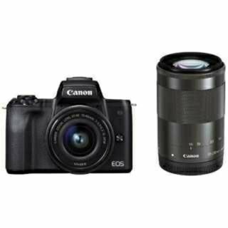 キヤノン(Canon)の【新品未使用】Canon EOS Kiss M ダブルズームキット(ミラーレス一眼)