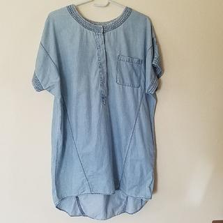 デニム風シャツ(シャツ/ブラウス(半袖/袖なし))