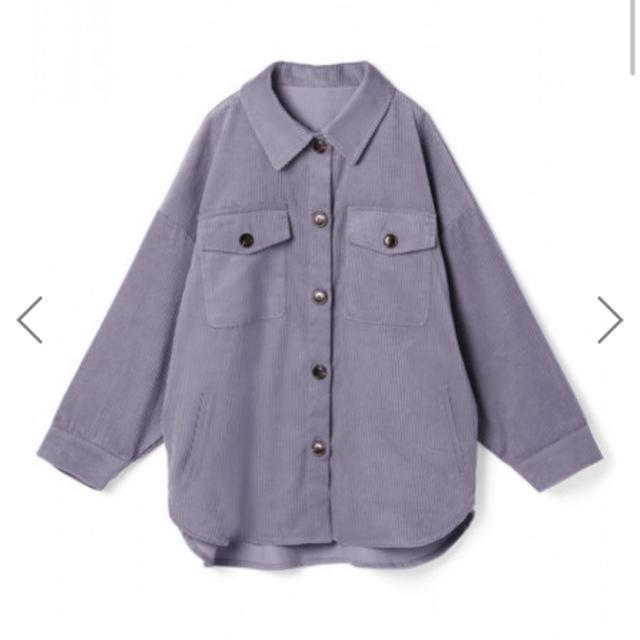 GRL(グレイル)のGRL コーデュロイオーバーシャツ パープル レディースのトップス(シャツ/ブラウス(長袖/七分))の商品写真