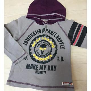 ビケット(Biquette)のロングTシャツ パーカー 110(Tシャツ/カットソー)
