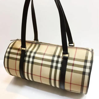 BURBERRY - バーバリー 伊製 PVC ハンドバッグ 18610012