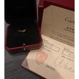 カルティエ(Cartier)のcartier カルティエ ミニラブ リング PG 1P ダイヤ 美品 付属完備(リング(指輪))