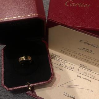 カルティエ(Cartier)のcartier カルティエ ラブリング PG ハーフダイヤ 47 美品 付属完備(リング(指輪))