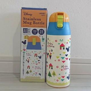 ミッキーマウス(ミッキーマウス)のミッキー 新品 超軽量 ロック付ワンプッシュマグボトル 360ml(水筒)