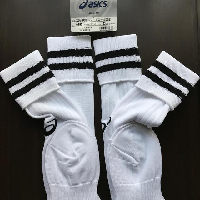 asics(アシックス)のアシックス ジュニア サッカーストッキング2足入り スポーツ/アウトドアのサッカー/フットサル(ウェア)の商品写真