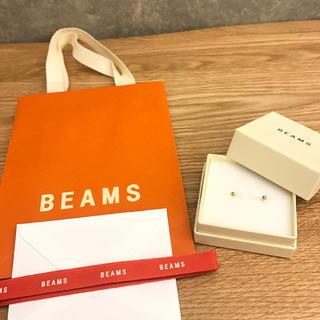 BEAMS - sale BEAMS 新品未使用 ゴールドポイントピアス