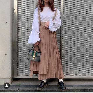 Lily Brown - ジャガードプリーツラップスカート リリーブラウン プリーツスカート