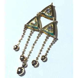 18金 ダイヤモンド ペンダント ネックレス トップ チャーム k18yg(チャーム)