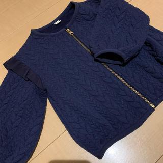 サニーランドスケープ(SunnyLandscape)のアプレレクール 肩フリルジャケット ネイビー (ジャケット/上着)