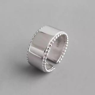 グリーンレーベルリラクシング(green label relaxing)のWide silver grain ring No.55(リング(指輪))