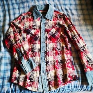 アユイテ(AYUITE)のAU14S TAKUYA∞着用 アユイテ刺繍チェックシャツ(シャツ)