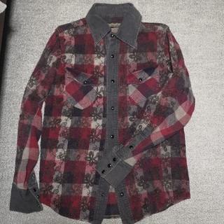 アユイテ(AYUITE)のAU15S アユイテ刺繍チェックシャツ(ブラック)(シャツ)