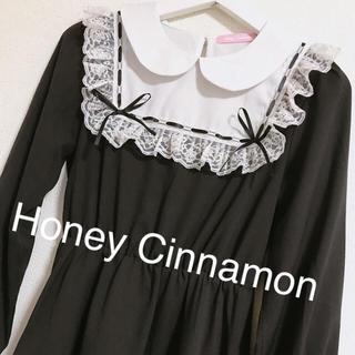 Honey Cinnamon - Honey Cinnamon ハニーシナモン リボン黒ワンピース