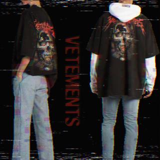 Balenciaga - [確実正規品] 希少 VETEMENTS スカルtシャツ バックプリント XS