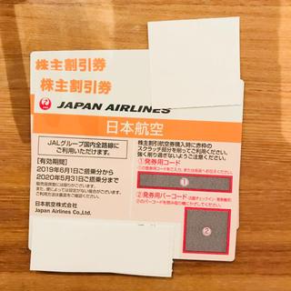 ジャル(ニホンコウクウ)(JAL(日本航空))のJAL 日本航空 株主割引券 2枚(その他)