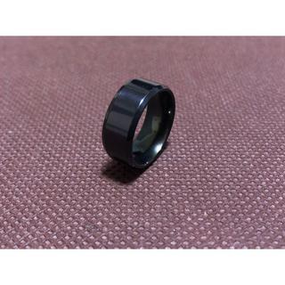ブラック 8mm 指輪 リング おすすめ メンズ シンプル(リング(指輪))