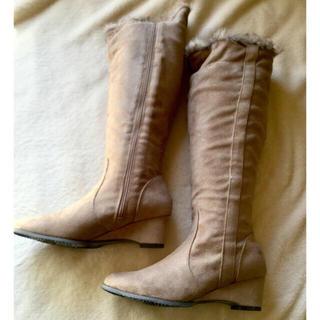 ファー付きロングブーツ(ブーツ)
