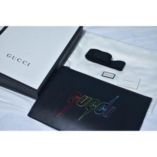 Gucci - GUCCIブレード刺繍 着脱可ストラップ レザークラッチバッグ
