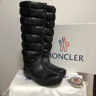 モンクレール(MONCLER)の《美品》モンクレール スノー ブーツ/38/ブラック(ブーツ)
