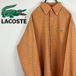 ラコステ(LACOSTE)のラコステ LACOSTE ギンガムチェック ワンポイント 刺繍ロゴ BDシャツ(シャツ)