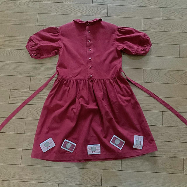 PINK HOUSE(ピンクハウス)のベビーピンクハウス 子供服 赤 半袖ワンピース BABY PINK HOUSE キッズ/ベビー/マタニティのキッズ服女の子用(90cm~)(ワンピース)の商品写真