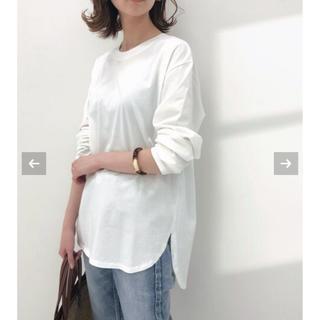 イエナ(IENA)の【タグ付き 未使用】ラウンドテールロングTシャツ(Tシャツ/カットソー(七分/長袖))