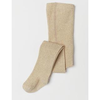 エイチアンドエム(H&M)の新品 baby kids ゴールドラメ タイツ グリッター 靴下(靴下/タイツ)