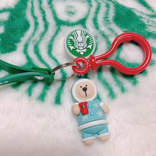 スターバックスコーヒー(Starbucks Coffee)の海外スタバ ベアリスタ ⋆⸜ blue snow ⸝⋆(キーホルダー)
