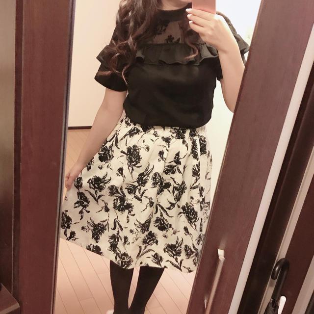 Avail(アベイル)のアベイル  ブラウス 花柄スカート  セット レディースのレディース その他(セット/コーデ)の商品写真