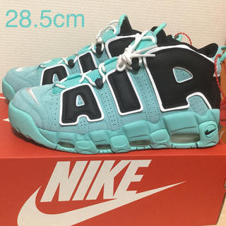 ナイキ(NIKE)のNIKE AIR MORE UPTEMPO 96 QS AQUA 28.5cm(スニーカー)