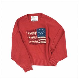 ジエダ(Jieda)のDAIRIKU/Inside Out America Knit(オレンジ)(ニット/セーター)