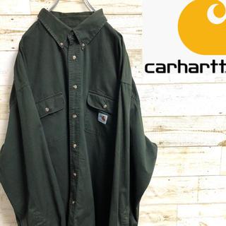 カーハート(carhartt)の*カーハート*長袖シャツ*ワークシャツ*FRライン*XLサイズ*(シャツ)