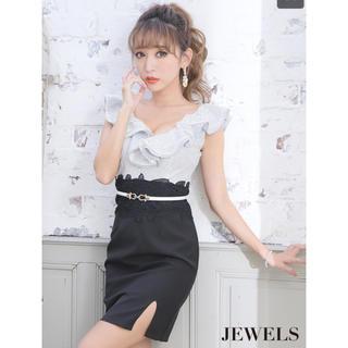 ジュエルズ(JEWELS)のキャバドレス ベルト付き サイドスリット(ナイトドレス)