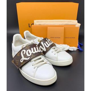 LOUIS VUITTON - LOUIS VUITTON☆ モノグラム スニーカー ロゴ ホワイト ブラウン