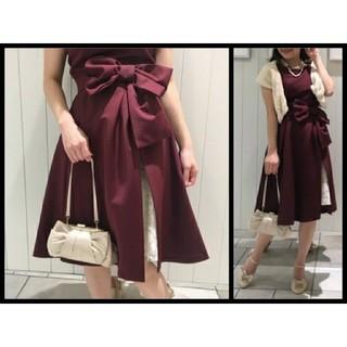 WILLSELECTION - ウィルセレクション グログランオーバースカート付きドレス