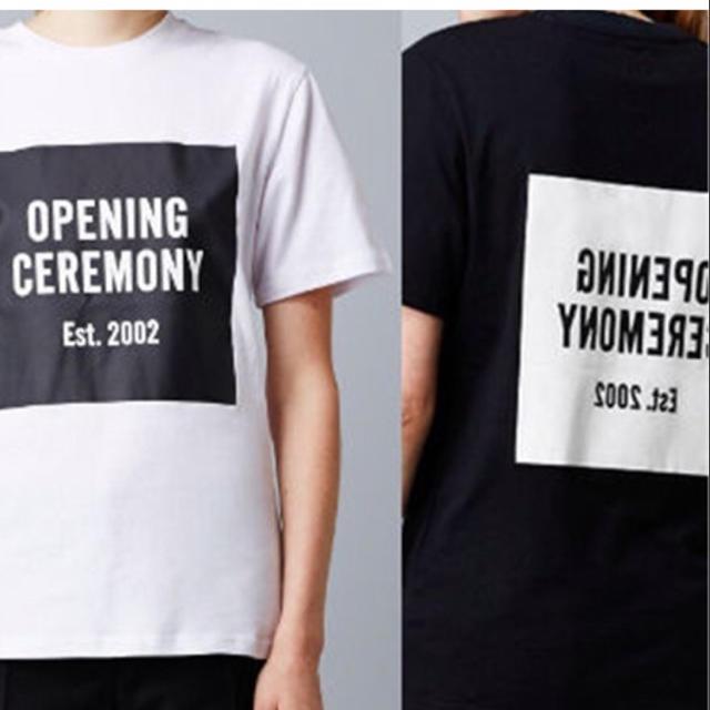 OPENING CEREMONY(オープニングセレモニー)のオープニングセレモニー メンズ ロゴ Tシャツ サイズS ホワイト 新品  メンズのトップス(Tシャツ/カットソー(半袖/袖なし))の商品写真