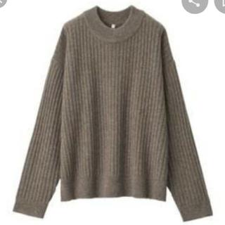 ムジルシリョウヒン(MUJI (無印良品))のヤク入りウール ワイドリブ編みモックネックセーター(ニット/セーター)