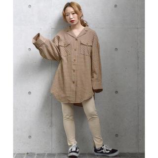 w closet - w closet ネルチェック開襟ルーズシャツ